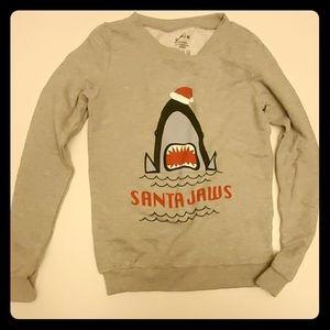 NWOT Santa Jaws Graphic Sweatshirt XS